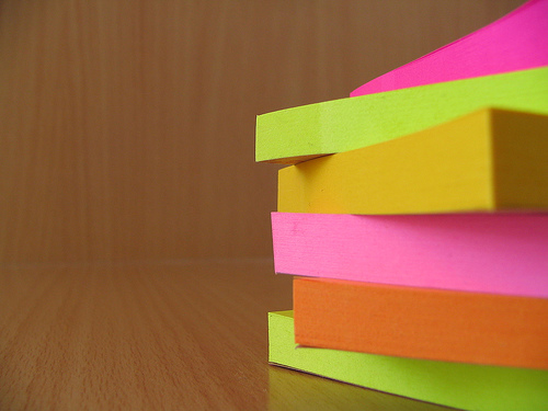Stack of postits