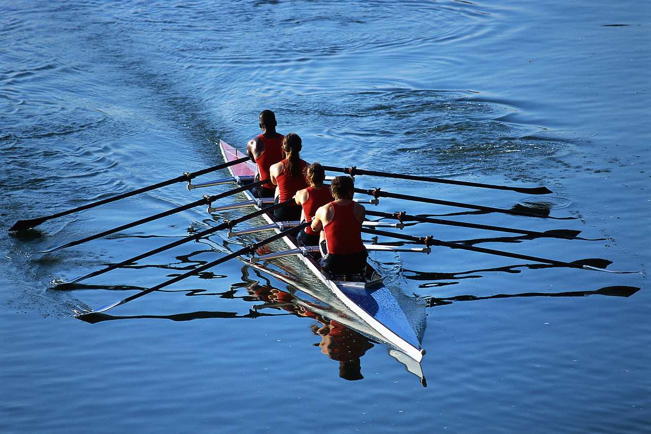 Rowers Rowing Boat